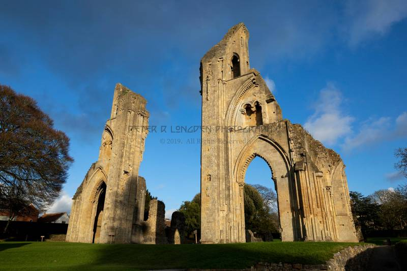 Glastonbury Abbey, the crossing piers